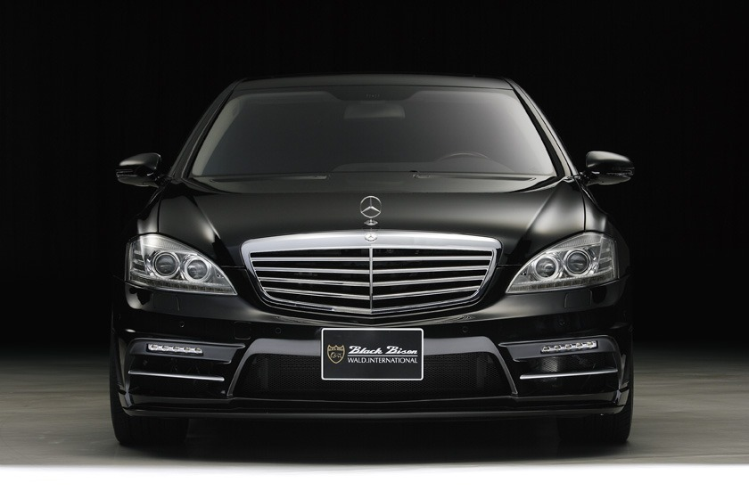 wald mercedes benz mbz w221 s550 s63 s65 black bison body kit front bumper 2010 2011 2012 2013