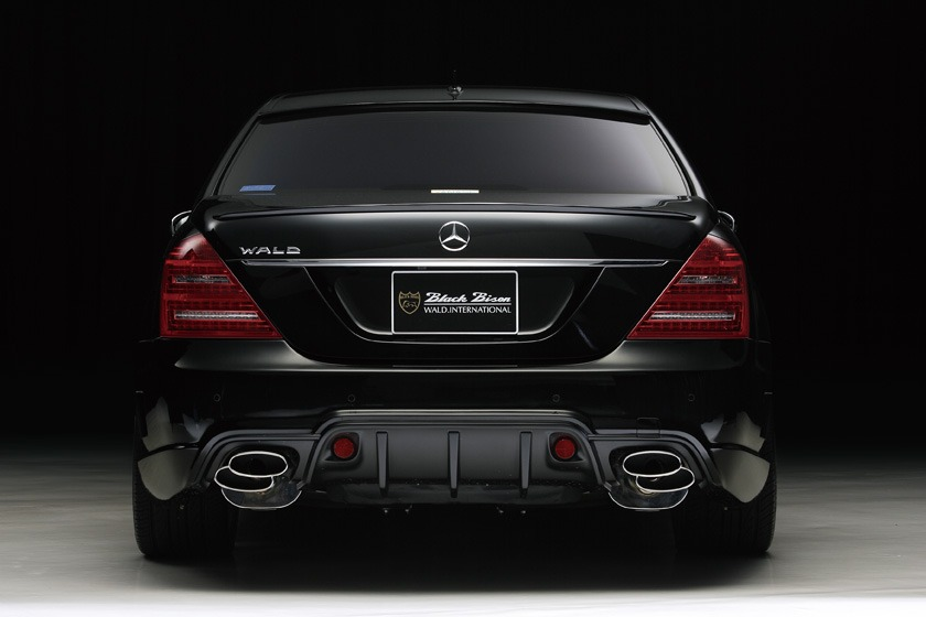 wald mercedes benz mbz w221 s550 s63 s65 black bison body kit rear bumper 2010 2011 2012 2013