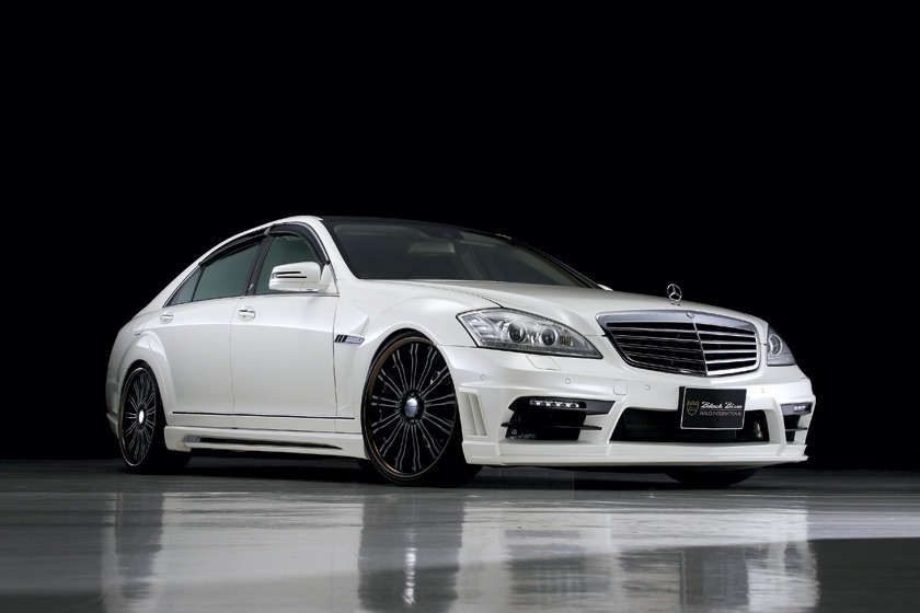 wald mercedes benz mbz w221 s550 s63 s65 black bison body kit front white 2010 2011 2012 2013
