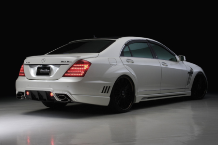 wald mercedes benz mbz w221 s550 s63 s65 black bison body kit rear white 2010 2011 2012 2013