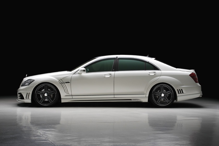 wald mercedes benz mbz w221 s550 s63 s65 black bison body kit side white 2010 2011 2012 2013