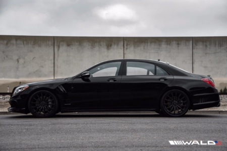 wald mercedes benz w222 s550 s63 s65 black bison body kit side p21f forged wheel satin 2014 2015 2016 2017