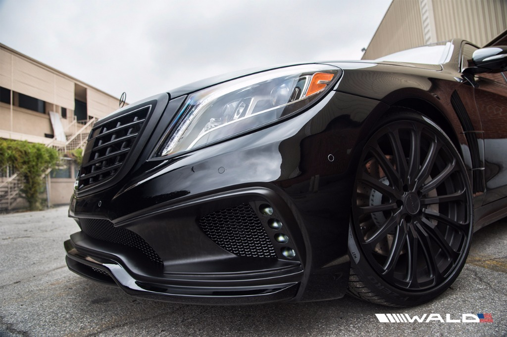wald mercedes benz w222 s550 s63 s65 black bison body kit front bumper led 2014 2015 2016 2017