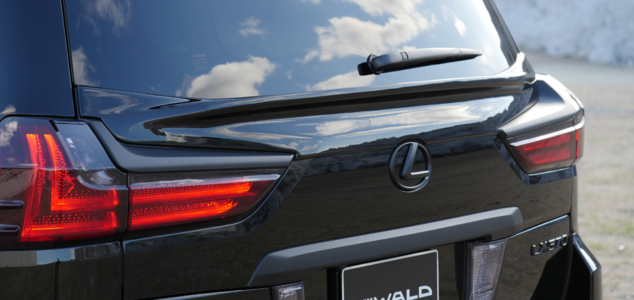 wald lexus lx570 sports line body kit rear gate spoiler 2016 2017 2018