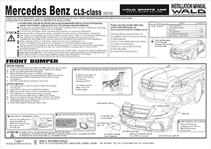 wald cls c218 black bison installation manual