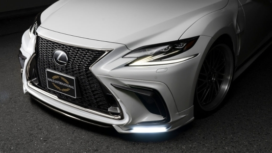 wald executive line lexus ls500 f sport body kit front apron led lamp