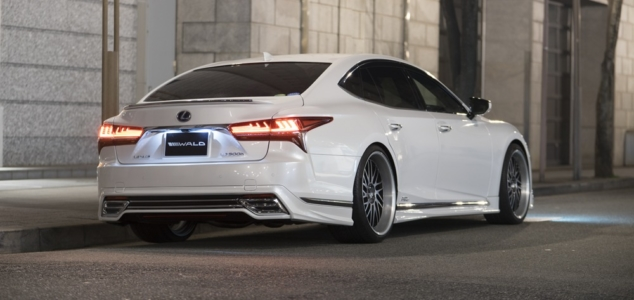 wald lexus ls500 ls500h executive line body kit rear apron side skirt set trunk wing spoiler t22c wheel rim 2018 2019 2020