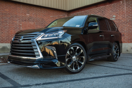 wald lexus lx570 standard sports line body kit front lip j11c wheels rims brick angle 2016 2017 2018