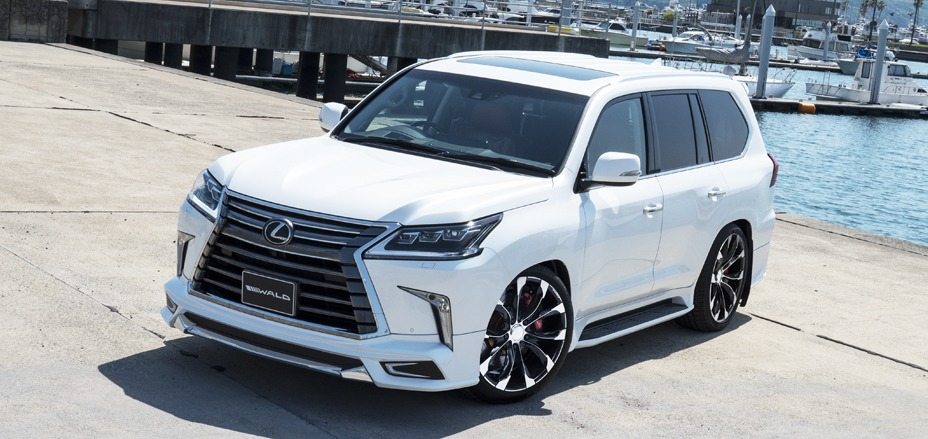 wald lexus lx570 standard sports line body kit front lip j11c wheels rims white 2016 2017 2018