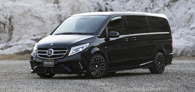 wald mercedes benz mbz v class w447 viano metris wald black bison body kit front angle outdoor 2015 2016 2017 2018