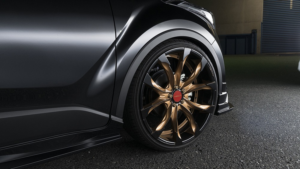wald toyota chr sports line body kitj11c wheel rim bronze
