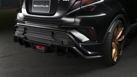 wald toyota chr sports line body kit rear apron