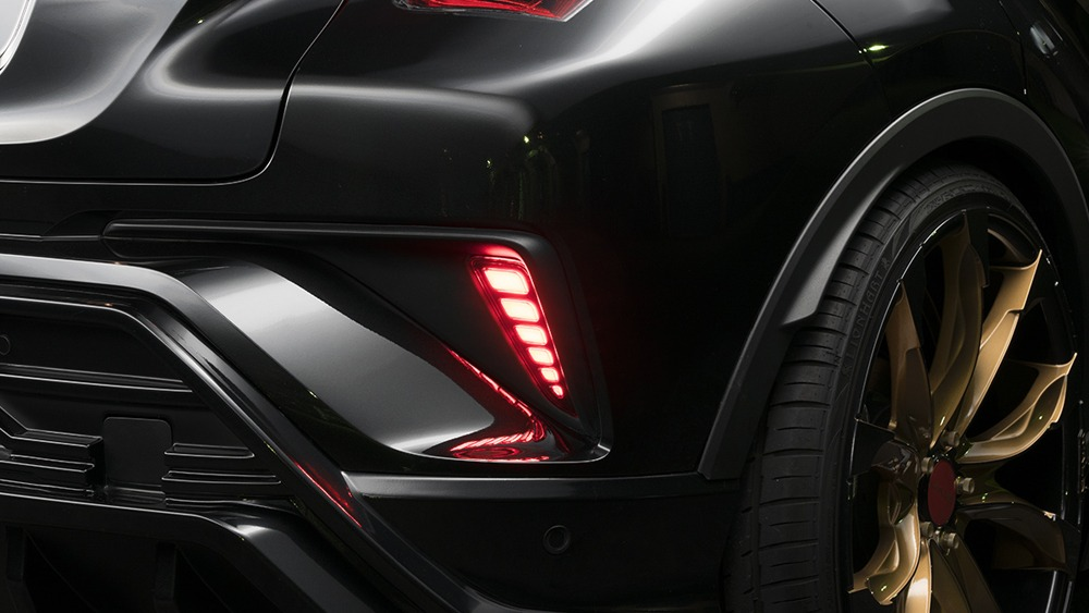 wald toyota chr sports line body kit rear bumper led