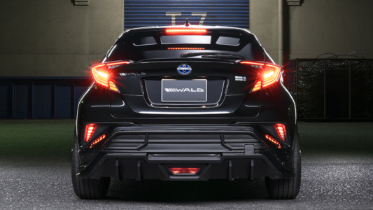 wald toyota chr sports line body kit rear bumper rear bumper led