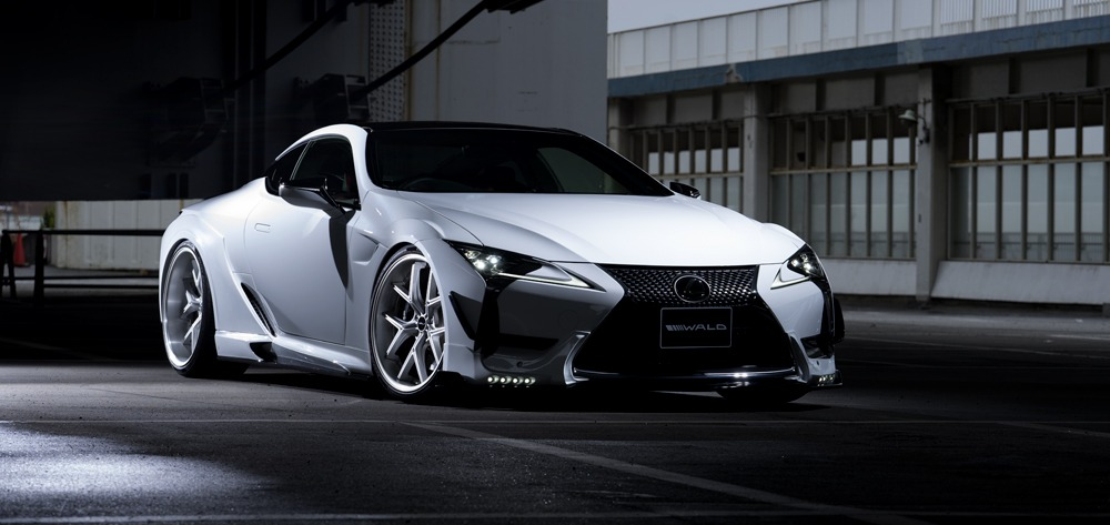 wald lexus lc500 lc500h sports line body kit front apron led canard fender i12c wheel 2017 2018
