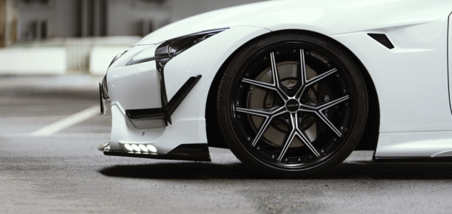 wald lexus lc500 lc500h sports line body kit front apron led canard i12c wheel 2017 2018
