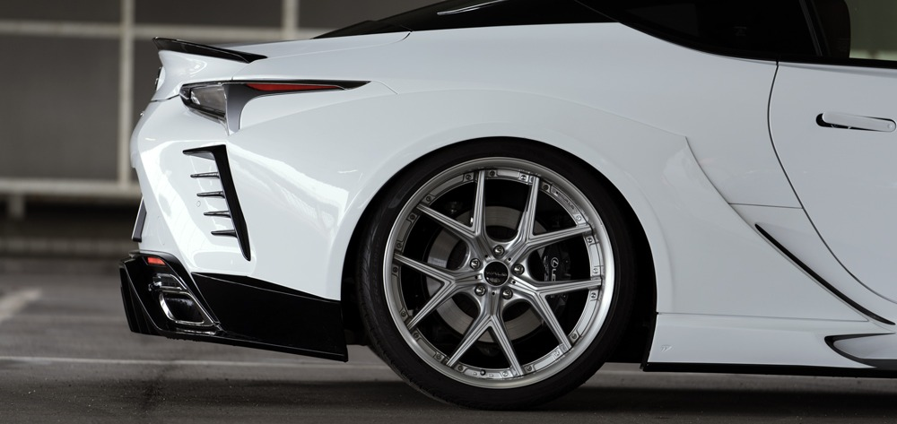 wald lexus lc500 lc500h sports line body kit rear fender i12c wheel 2017 2018