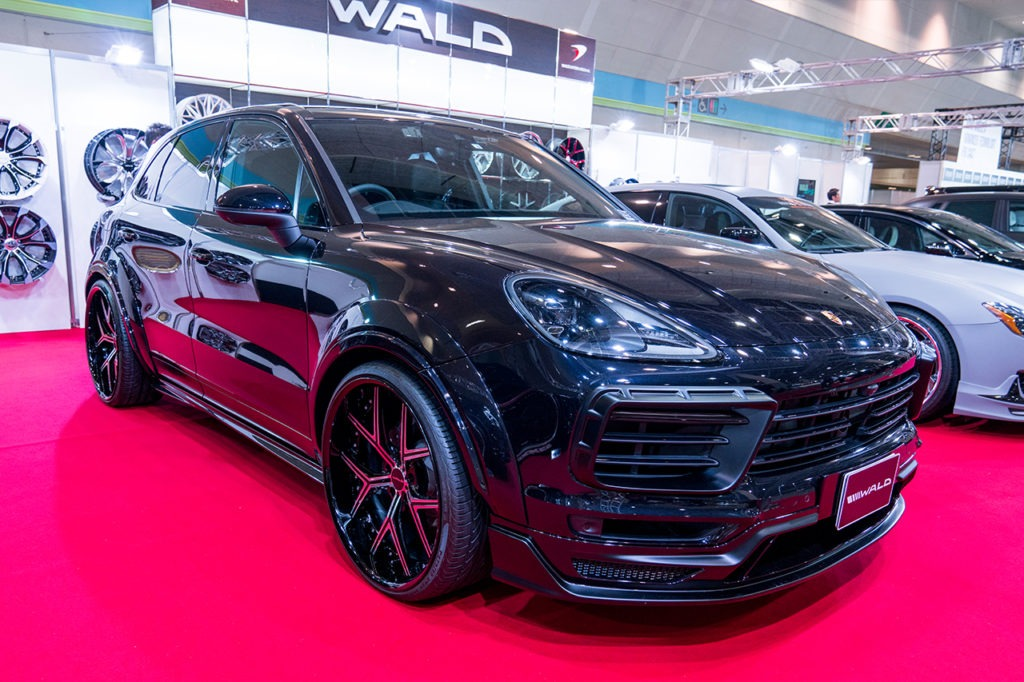 wald international black bison porsche cayenne body kit
