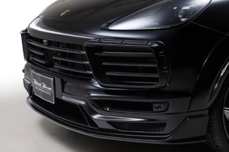 wald black bison porsche cayenne 9ya wide body kit front bumper spoiler 2018 2019 studio angle