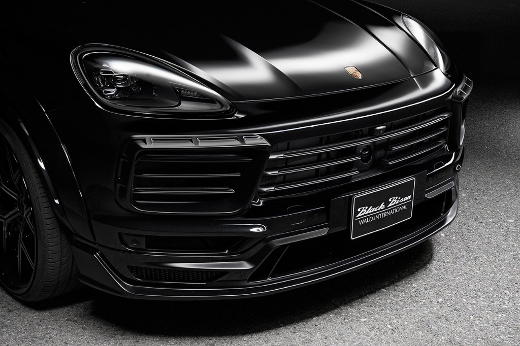 wald black bison porsche cayenne 9ya wide body kit front bumper spoiler 2018 2019 studio