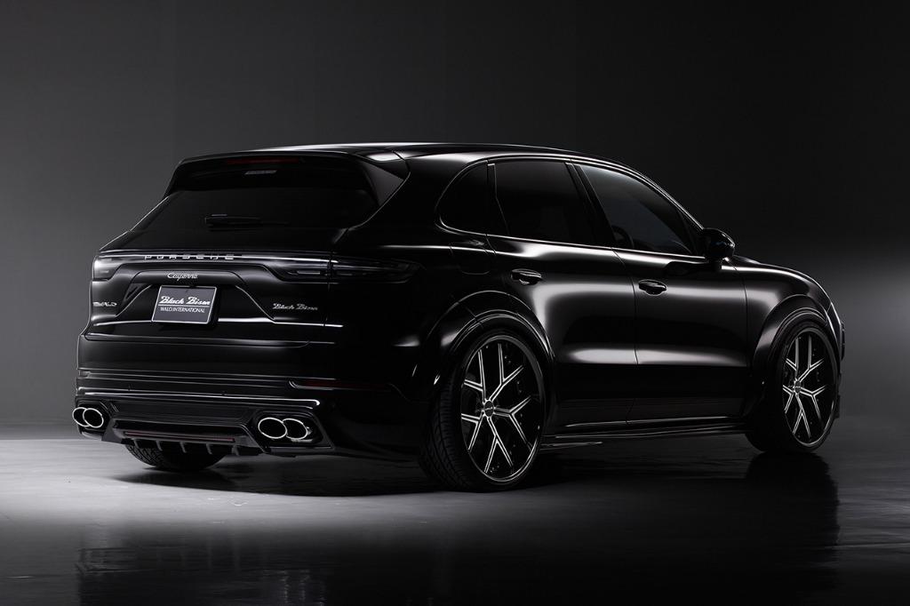 wald black bison porsche cayenne 9ya wide body kit rear bumper spoiler side skirt set i13f forged wheel rim 2018 2019 studio
