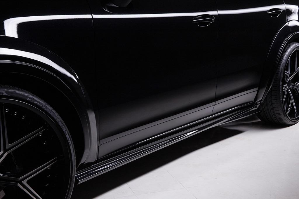 wald black bison porsche cayenne 9ya wide body kit side skirt set i13f forged wheel rim 2018 2019 studio