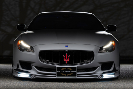 wald maserati quattroporte executive line body kit front spoiler led drl 2013 2014 2015 2016 2017 front