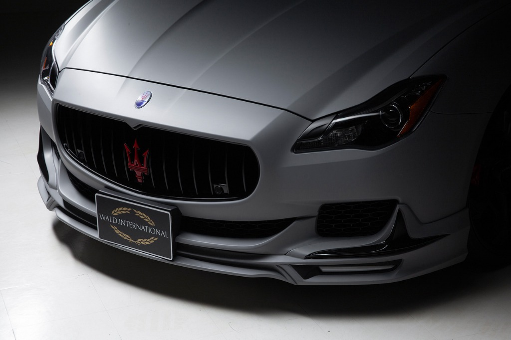 wald maserati quattroporte executive line body kit front spoiler led drl 2013 2014 2015 2016 2017 studio angle