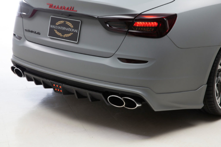wald maserati quattroporte executive line body kit rear bumper spoiler led brake lamp 2013 2014 2015 2016 2017 studio angle