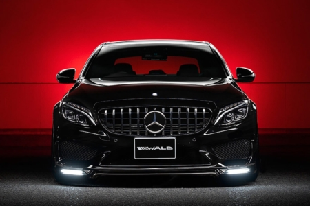 wald mercedes benz w205 c class executive line body kit front apron led drl panaericana grill 2014 2015 2016 2017 2018