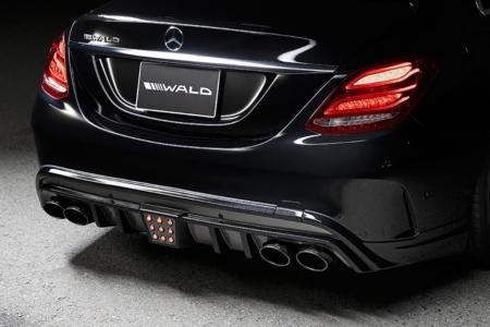 wald mercedes benz w205 c class executive line body kit rear bumper apron led brake lamp 2014 2015 2016 2017 2018