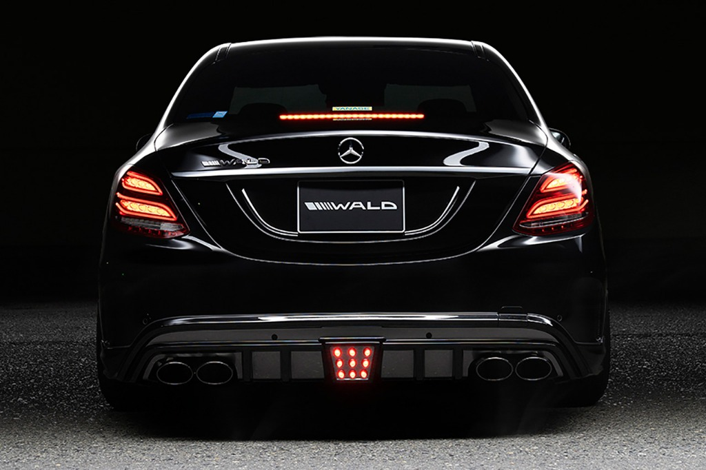 wald mercedes benz w205 c class executive line body kit rear bumper apron led brake lamp sport exhaust 2014 2015 2016 2017 2018