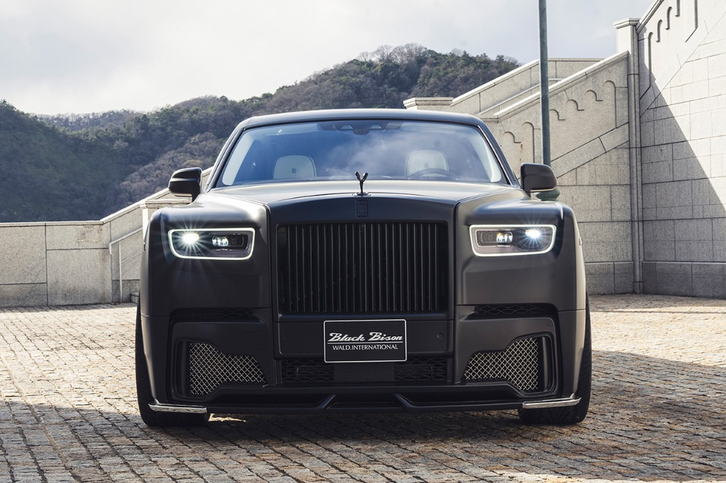 wald rolls royce phantom 8 viii black bison body kit front bumper 2018