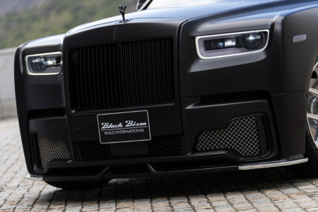 wald rolls royce phantom 8 viii black bison body kit front bumper 2018 angle