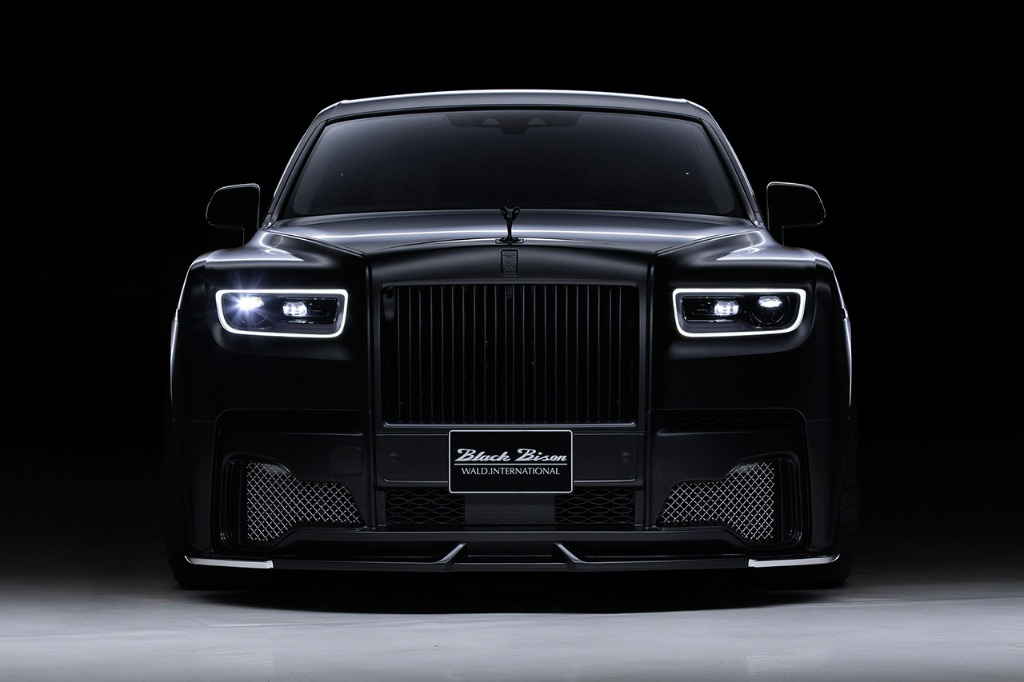 wald rolls royce phantom 8 viii black bison body kit front bumper 2018 studio front
