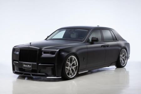 wald rolls royce phantom 8 viii black bison body kit front bumper side skirt set i13f wheel rim 2018 front angle studio