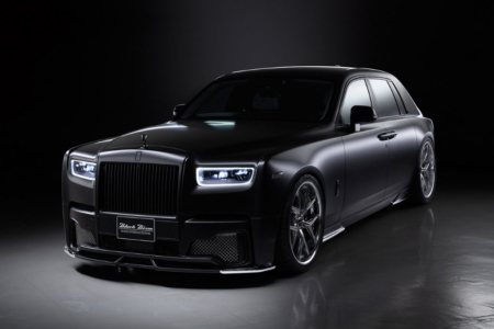 wald rolls royce phantom 8 viii black bison body kit front bumper side skirt set i13f wheel rim 2018 studio angle