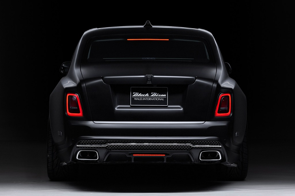wald rolls royce phantom 8 viii black bison body kit rear bumper 2018 studio rear