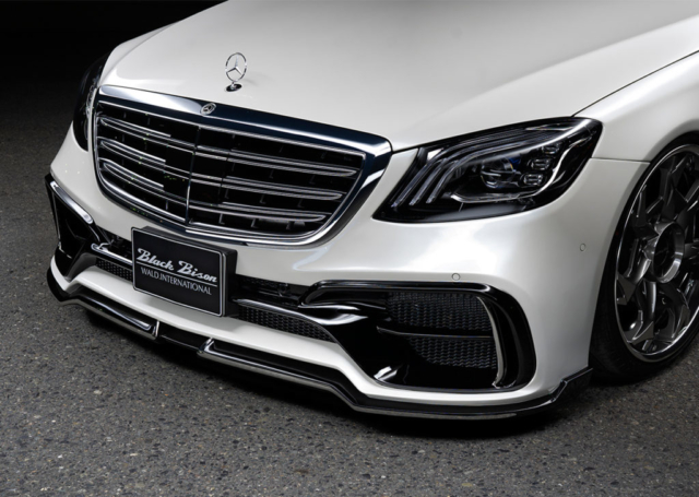 wald black bison w222 mercedes s class facelift s65 s63 s550 body kit front angle front bumper v12c wheel rim 2018 2019 2020