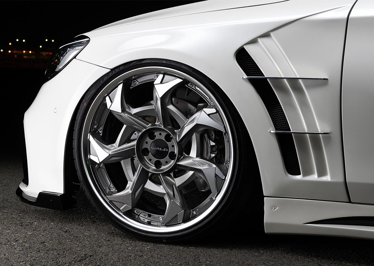 wald black bison w222 mercedes s class facelift s65 s63 s550 body kit sport fender v12c wheel rim 2018 2019 2020