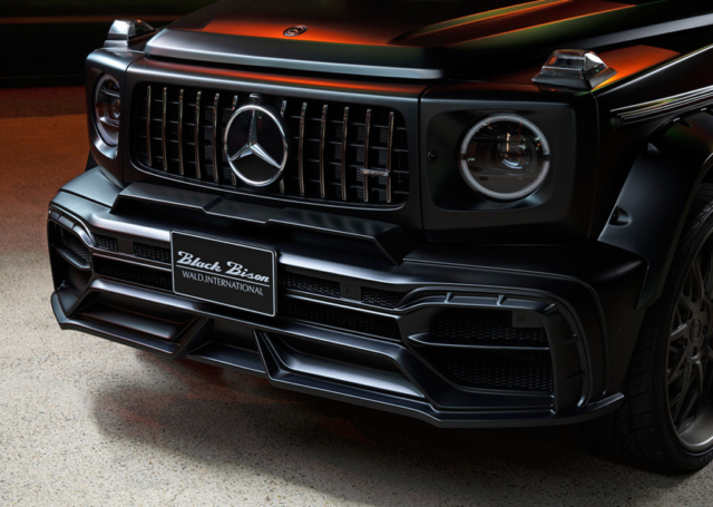wald black bison w463a mercedes g class g63 g550 body kit front bumper angle black 2019 2020