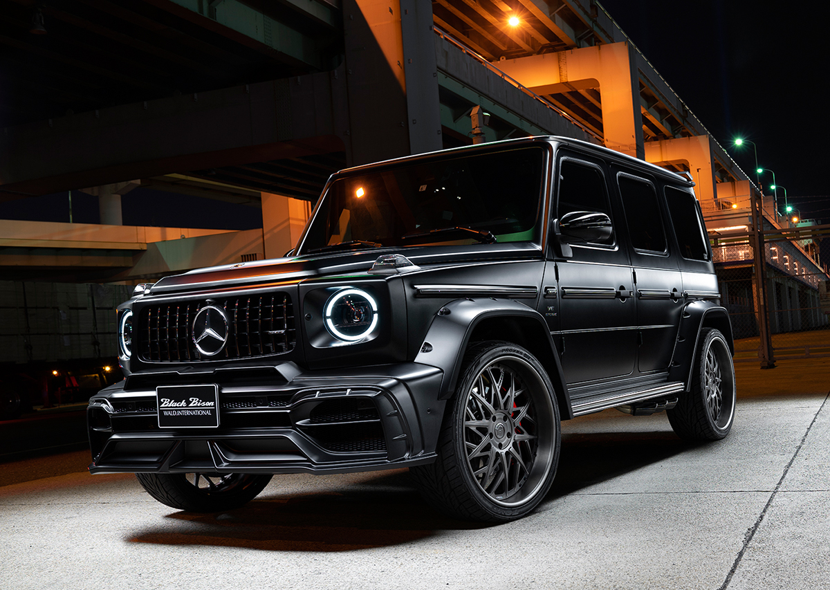wald black bison w463a mercedes g class g63 g550 body kit front bumper fender arch set black 2019 2020