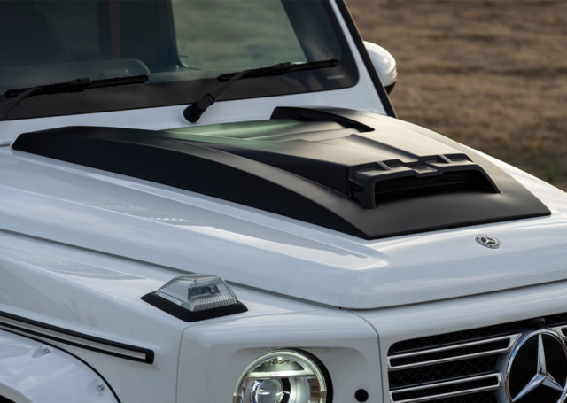 wald black bison w463a mercedes g class g63 g550 body kit hood panel white 2019 2020
