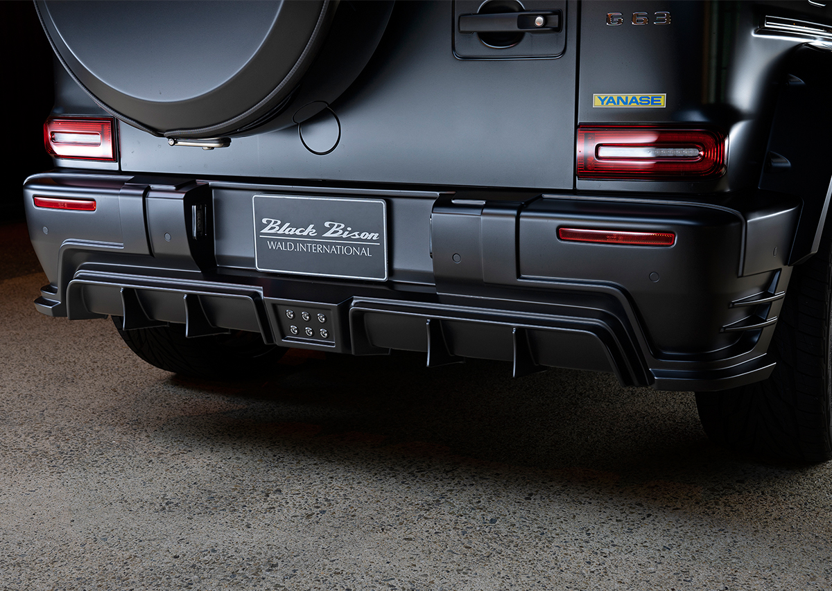 wald black bison w463a mercedes g class g63 g550 body kit rear bumper black 2019 2020