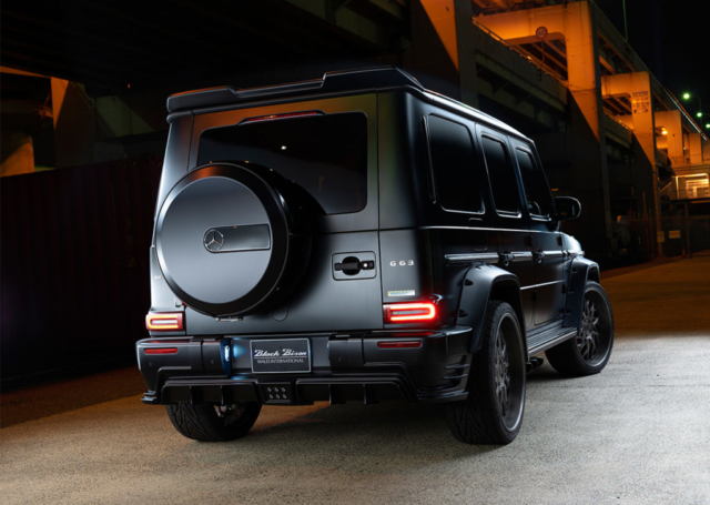 wald black bison w463a mercedes g class g63 g550 body kit rear bumper fender arch set roof wing black 2019 2020
