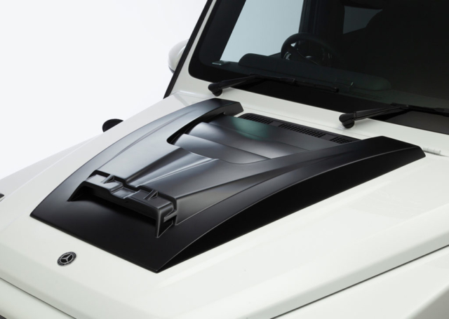wald black bison w463a mercedes g class g63 g550 body kit studio hood panel white 2019 2020