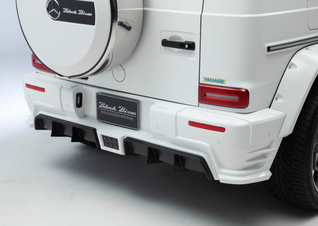 wald black bison w463a mercedes g class g63 g550 body kit studio rear bumper fender arch set white 2019 2020