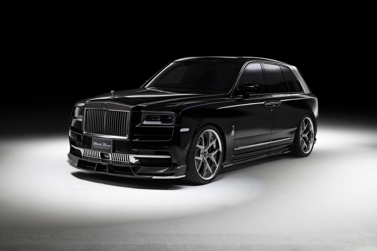 wald-black-bison-rolls-royce-cullinan-body-kit-front-lip-spoiler-i13f-forged-wheel-side-skirt-set-front-angle-studio-2019-2020