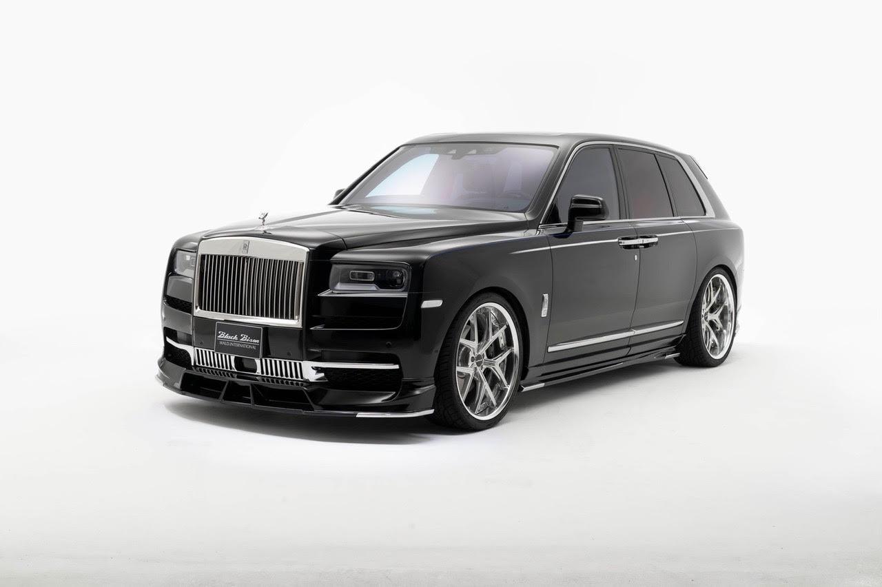 wald-black-bison-rolls-royce-cullinan-body-kit-front-lip-spoiler-side-skirt-set-i13f-forged-wheel-front-angle-2019-2020