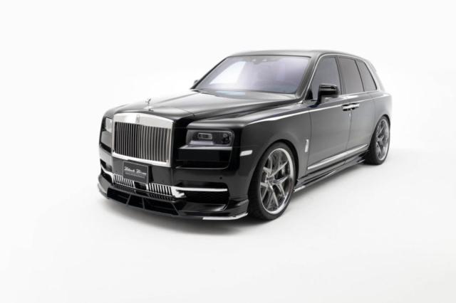 wald-black-bison-rolls-royce-cullinan-body-kit-front-lip-spoiler-side-skirt-set-i13f-forged-wheel-top-angle-2019-2020